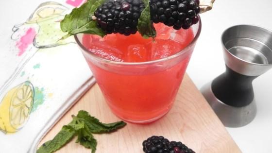 blackberry-mint julep margarita