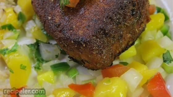 Blackened Tuna Steaks With Mango Salsa