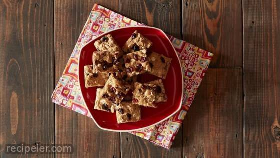 Blonde Brownies with White Chocolate and Cranberries