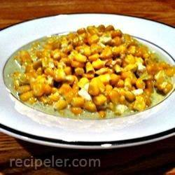 Blue Cheese Garlic Sweet Corn