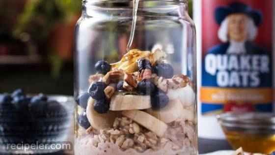 Blueberry Banana Pecan Overnight Oats