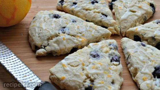 Blueberry Orange Scones with White Chocolate Chunks