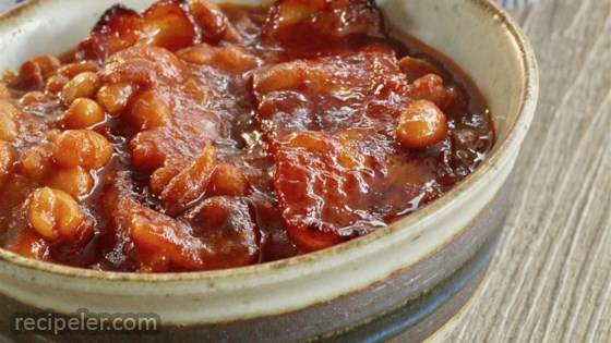 Bourbon and DP Baked Beans
