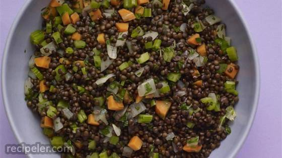 Braised Black Lentils