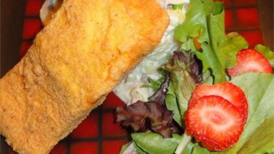 breaded pan-fried salmon