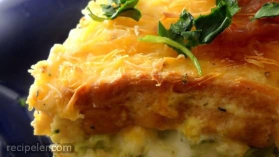 Broccoli Blue Cheese Strata