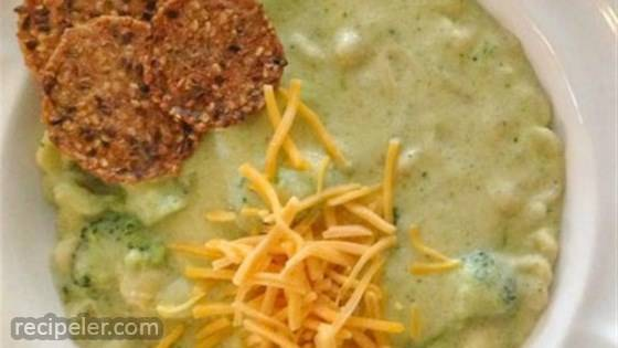 Broccoli Cheese Soup with Pasta Shells
