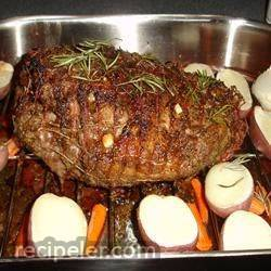 Broiled and Slow-Roasted Butterflied Leg of Lamb With Cumin and Garlic