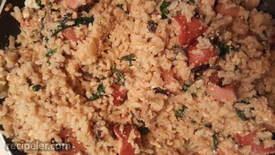 Brown Rice Skillet Breakfast