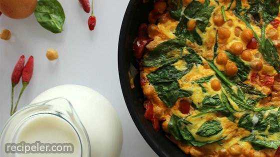 Brunchtime Spicy Chickpea Frittata