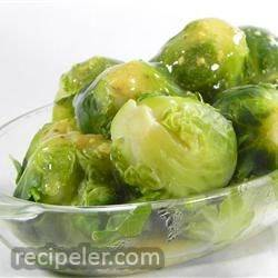 Brussels Sprouts in Mustard Sauce