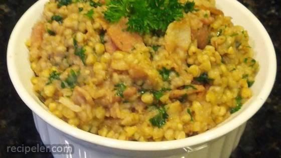 Buckwheat and Bacon Side Dish