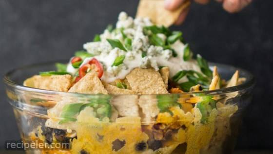 Buffalo Chicken Nacho Bowl