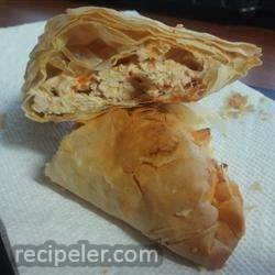 Buffalo Chicken Phyllo Wraps