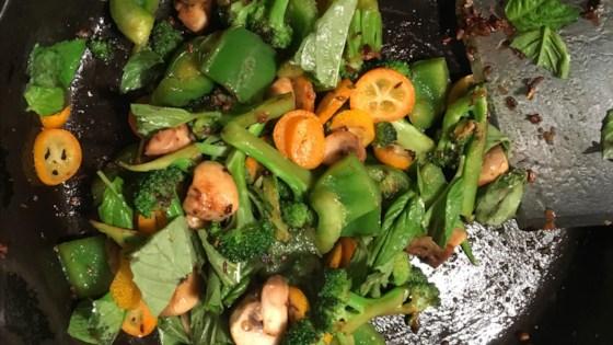 bulgur veggie stir fry