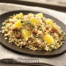 Bulgur Wheat with Pineapple, Pecans and Basil