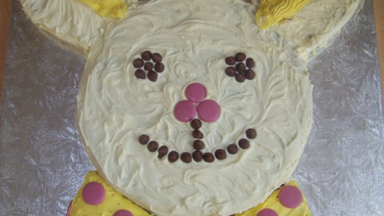 Bunny Cake With Round Cake Pans