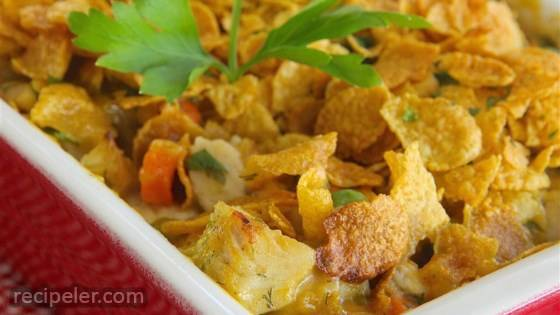 Buttermilk Chicken and Corn Flake Baked Casserole