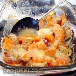 Butternut Squash, Apple, Onion Au Gratin