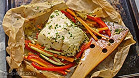 Buttery Cod and Vegetable Packets