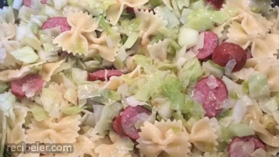 Cabbage And Smoked Sausage Pasta