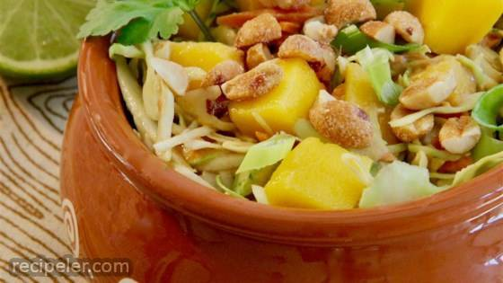 Cabbage Salad With Mango And Peanuts