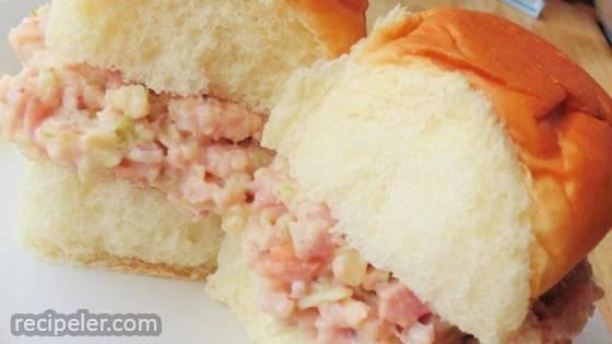 Cajun Ham Salad Sandwiches