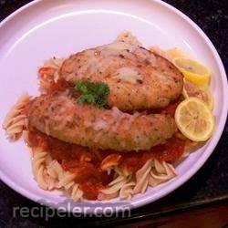 Calamari Steaks Parmigiano