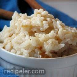 Canadian Maple Rice Pudding