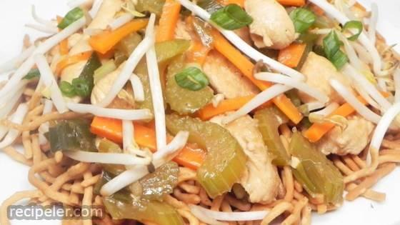 Cantonese Chicken Chow Mein