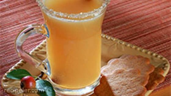Caramel Apple Cider with Salty-Sweet Rim