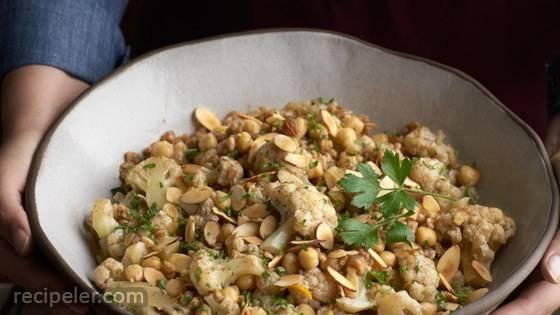 Cauliflower Chickpeas and Farro