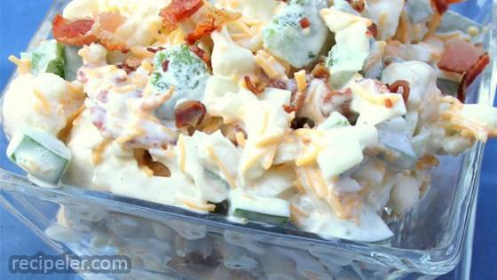 Cauliflower Salad with Cheddar and Bacon