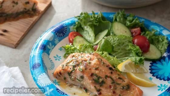 Cedar Plank Salmon from Dixie