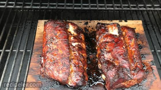 Cedar-smoked Baby Back Ribs