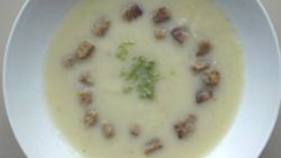 celery root soup with croutons