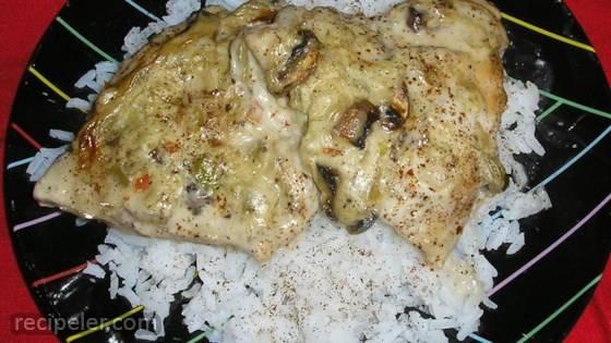 Celery Wine Baked Chicken