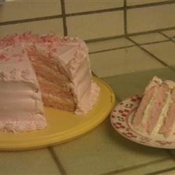 champagne cake with buttercream cing