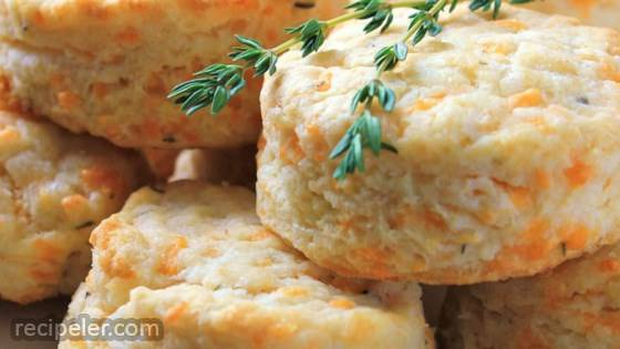 Cheddar-Thyme Flaky Biscuits