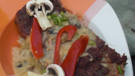 Cheeseburger Meatloaf With Mushroom Sauce