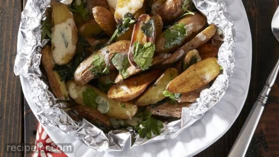 Cheesy Oven Roasted Fingerling Fries