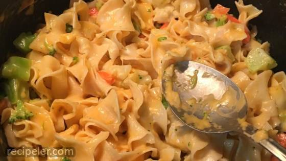 Cheesy Vegetables and Noodles