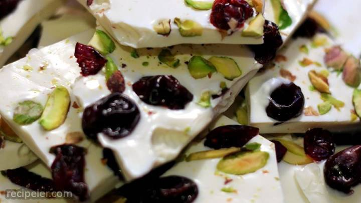 cherry-pistachio bark