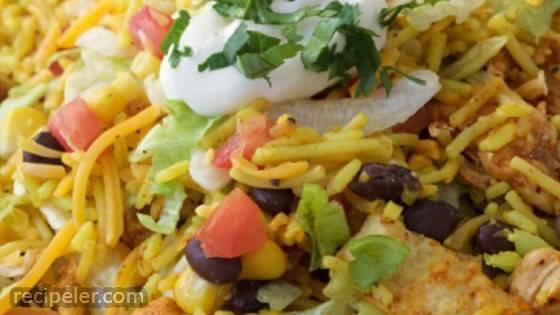 Chicken and Rice Taco Salad