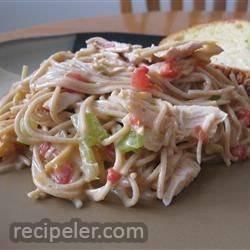 Chicken Chile Spaghetti