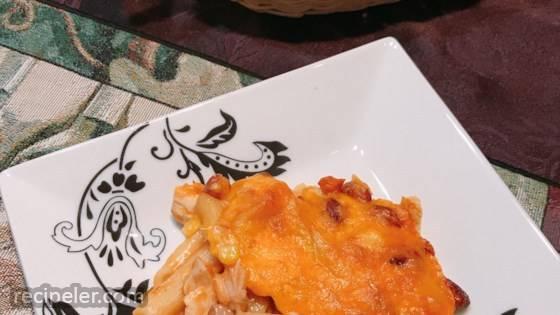 Chicken Enchilada Pasta Casserole