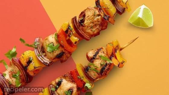 Chicken Fajita Kabob