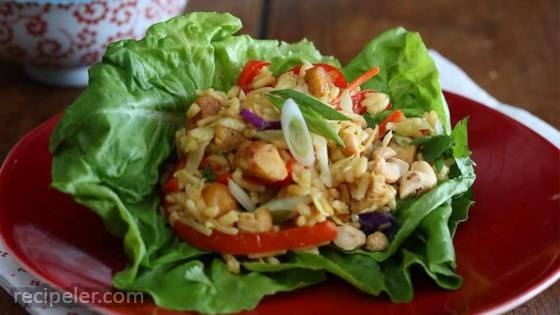 Chicken Fried Rice Lettuce Wraps