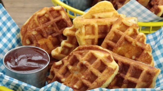 chicken in a waffle