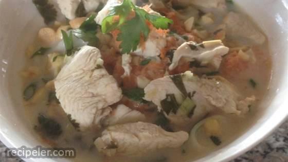 Chicken in Lemongrass Coconut Broth
